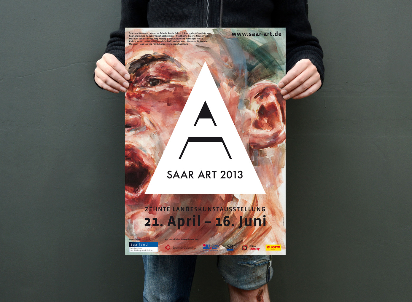Saarart corporate identity county art exhibition bureau